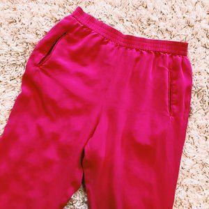 Dana Buchman Pants - Vintage Dana Buchman Bright Pink Silk Pants